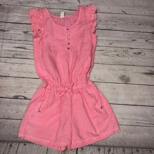 Girls Zara pink romper